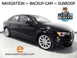 2016_Audi_A3 1.8T Premium_*NAVIGATION, BACKUP-CAMERA, PANORAMA MOONROOF, LEATHER, HEATED SEATS, ADVANCED KEY, BLUETOOTH PHONE & AUDIO_ Round Rock TX