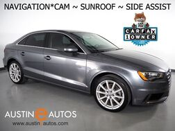 2016_Audi_A3 1.8T Premium Plus_*NAVIGATION, SIDE ASSIST, BACKUP-CAMERA, OVERSIZED MOONROOF, LEATHER, HEATED SEATS, ADVANCED KEY, BLUETOOTH PHONE & AUDIO_ Round Rock TX