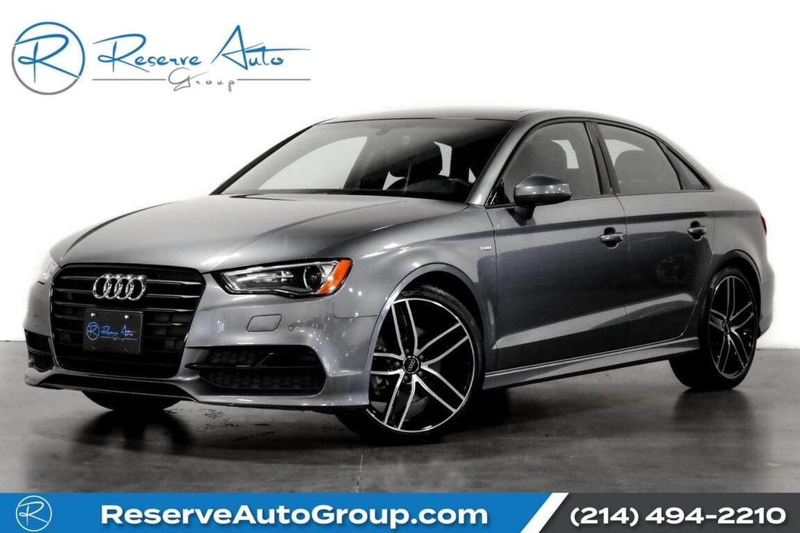 2016 Audi A3 1.8T Premium S-Line BlackOptic Pkg Moonroof 19 Alloys The Colony TX