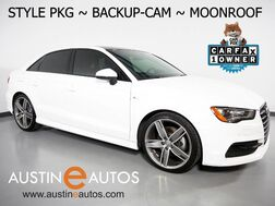 2016_Audi_A3 1.8T Premium_*STYLE PACKAGE, BACKUP-CAMERA, PANORAMA MOONROOF, LEATHER, ADVANCED KEY, HEATED SEATS, 19 INCH ALLOYS, BLUETOOTH PHONE & AUDIO_ Round Rock TX