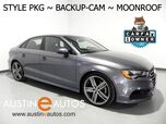 2016 Audi A3 1.8T Premium *STYLE PACKAGE, BACKUP-CAMERA, PANORAMA MOONROOF, LEATHER, ADVANCED KEY, HEATED SEATS, 19 INCH ALLOYS, BLUETOOTH PHONE & AUDIO