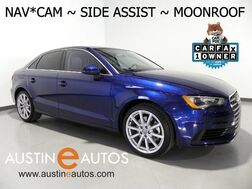 2016_Audi_A3 1.8t Premium Plus_*NAVIGATION, SIDE ASSIST, BACKUP-CAMERA, OVERSIZED MOONROOF, LEATHER, HEATED SEATS, BLUETOOTH_ Round Rock TX