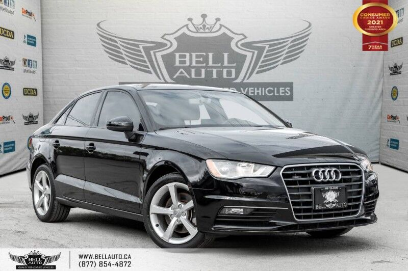 2016 Audi A3 2.0T Komfort, NO ACCIDENTS, AWD, SUNROOF, PARK ASST, ALLOY Toronto ON