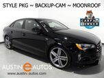 2016 Audi A3 Quattro 2.0T Premium *STYLE PACKAGE, BACKUP-CAMERA, PANORAMA MOONROOF, LEATHER, ADVANCED KEY, HEATED SEATS, 19 INCH ALLOYS, BLUETOOTH PHONE & AUDIO