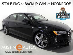 2016_Audi_A3 Quattro 2.0T Premium_*STYLE PACKAGE, BACKUP-CAMERA, PANORAMA MOONROOF, LEATHER, ADVANCED KEY, HEATED SEATS, 19 INCH ALLOYS, BLUETOOTH PHONE & AUDIO_ Round Rock TX