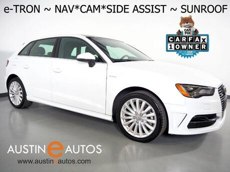 2016 Audi A3 e-tron Premium Plus *NAVIGATION, BACKUP-CAMERA, SIDE ASSIST, BANG & OLUFSEN AUDIO, ADVANCED KEY, LEATHER, MOONROOF, HEATED SEATS, LED HEADLIGHTS, BLUETOOTH Round Rock TX