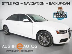 2016_Audi_A4 2.0T Premium_*STYLE PKG, NAVIGATION, BACKUP-CAMERA, LEATHER, HEATED SEATS, MOONROOF, ADVANCED KEY, 19 INCH ALLOYS, BLUETOOTH PHONE & AUDIO_ Round Rock TX