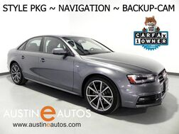 2016_Audi_A4 2.0T Premium_*STYLE PKG, NAVIGATION, BACKUP-CAMERA, LEATHER, HEATED SEATS, MOONROOF, ADVANCED KEY, 19 INCH ALLOYS, BLUETOOTH PHONE & AUDIO_ Round Rock TX