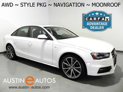 2016_Audi_A4 Quattro 2.0T Premium_*STYLE PKG, NAVIGATION, BACKUP-CAMERA, LEATHER, MOONROOF, HEATED SEATS, ADVANCED KEY, BLACK OPTIC TRIM, 19 INCH WHEELS, BLUETOOTH_ Round Rock TX