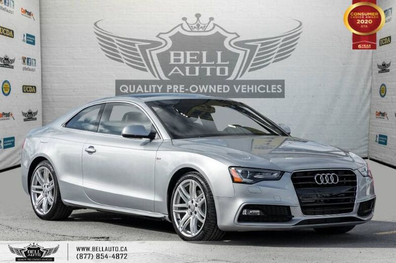 2016 Audi A5 Technik, S-LINE, NO ACCIDENTS, AWD, NAVI, REAR CAM, B.SPOT. Toronto ON