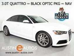 2016_Audi_A6 Quattro 3.0T Premium Plus_*S LINE SPORT PKG, BLACK OPTIC PKG, NAVIGATION, SIDE ASSIST, BACKUP-CAM, MOONROOF, HEATED SEATS/STEERING WHEEL, BOSE AUDIO, BLUETOOTH_ Round Rock TX