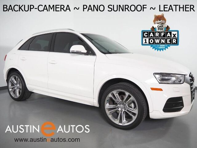 2016 Audi Q3 2.0T Premium Plus *BACKUP-CAMERA, PANORAMA MOONROOF, LEATHER, HEATED SEATS, ADVANCE KEY, 19 INCH ALLOYS, BLUETOOTH PHONE & AUDIO Round Rock TX