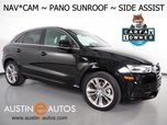 2016 Audi Q3 2.0T Premium Plus *NAVIGATION, SIDE ASSIST, BACKUP-CAMERA, PANORAMA MOONROOF, LEATHER, HEATED SEATS, ADVANCED KEY, 19 INCH WHEELS, BLUETOOTH