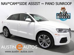 2016_Audi_Q3 2.0T Premium Plus_*NAVIGATION, SIDE ASSIST, BACKUP-CAMERA, PANORAMA MOONROOF, LEATHER, HEATED SEATS, POWER LIFTGATE, BLUETOOTH PHONE & AUDIO_ Round Rock TX