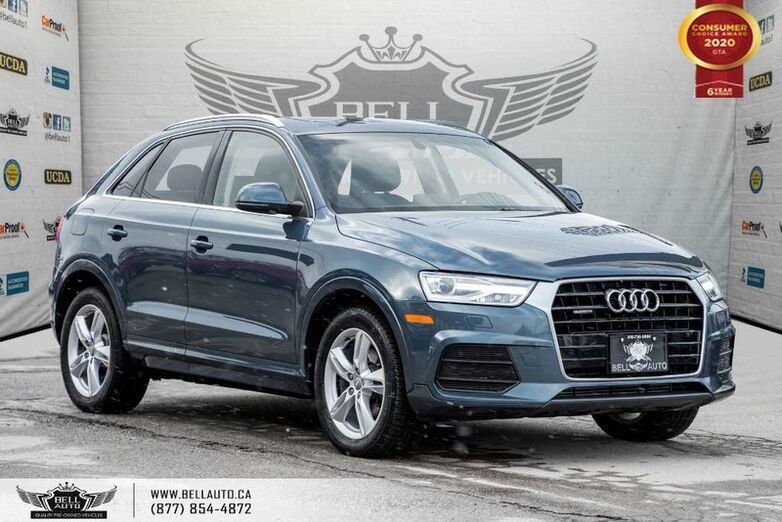 2016 Audi Q3 Progressiv, AWD, NO ACCIDENT, PANO ROOF, BLUETOOTH, PUSH START Toronto ON