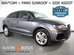 2016 Audi Q3 Quattro 2.0T Premium Plus *NAVIGATION, SIDE ASSIST, BACKUP-CAMERA, PANORAMA MOONROOF, LEATHER, HEATED SEATS, ADVANCED KEY, BLUETOOTH PHONE & AUDIO
