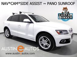 2016_Audi_Q5 Quattro 2.0T Premium Plus_*NAVIGATION, SIDE ASSIST, BACKUP-CAM, PANORAMA MOONROOF, BANG & OLUFSEN, LEATHER, 19 INCH WHEELS, ADVANCED KEY, BLUETOOTH_ Round Rock TX
