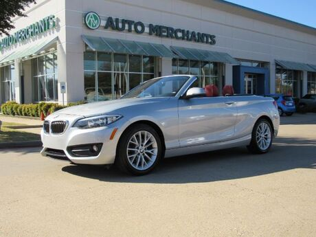 2016 BMW 2-Series 228i Convertible, LEATHER, HEATED SEATS, BACK-UP CAMERA, BLUETOOTH CONNECTIVITY, AUX/USB INPUT, PUSH Plano TX
