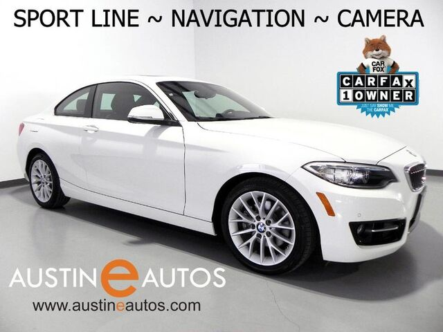 2016 BMW 2 Series 228i Coupe *SPORT LINE, NAVIGATION, BACKUP-CAMERA, LEATHER, HEATED SEATS, MOONROOF, LIGHTING PKG, BLUETOOTH Round Rock TX