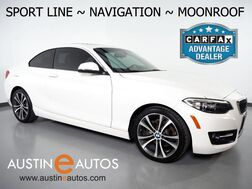 2016_BMW_2 Series 228i Coupe_*SPORT LINE, NAVIGATION, MOONROOF, DAKOTA LEATHER, HEATED SEATS, COMFORT ACCESS, BLUETOOTH PHONE & AUDIO_ Round Rock TX