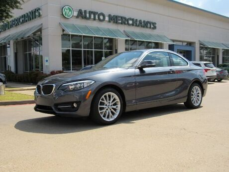 2016 BMW 2-Series 228i SULEV Coupe NAV, SUNROOF, PUSH BUTTON, LEATHER, SAT RADIO, BLUETOOTH, AUX INPUT, CD PLAYER Plano TX