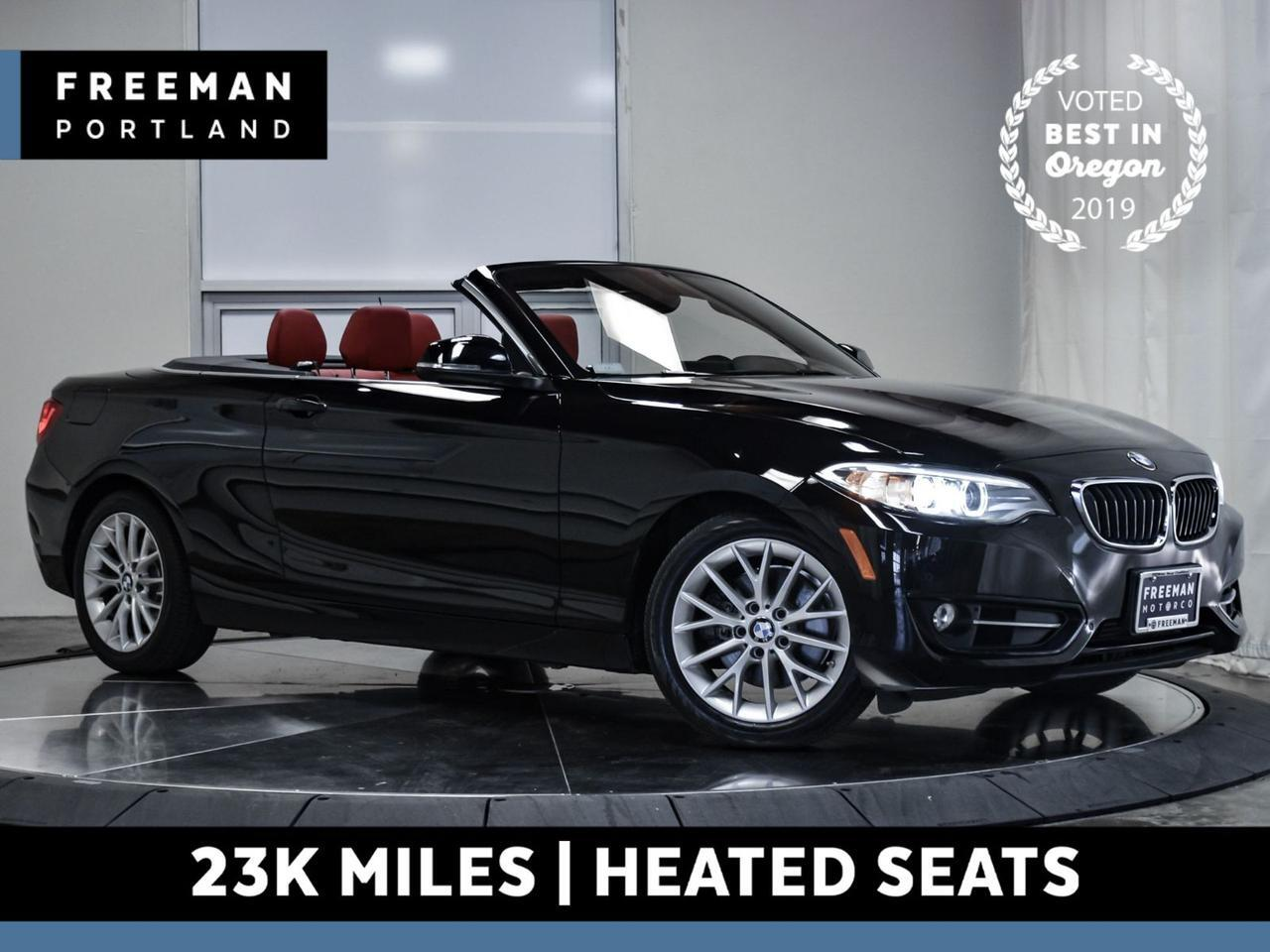 2016 BMW 228i Convertible 23k Mi Heated Seats Back-Up Cam Nav Portland OR