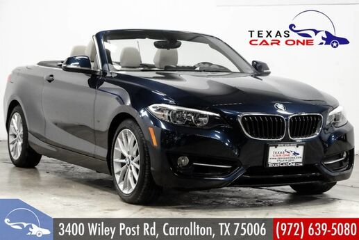 2016 BMW 228i xDrive Convertible AWD SPORT PKG PREMIUM PKG TECHNOLOGY PKG NAVIGATION Carrollton TX