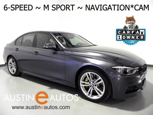 2016 BMW 3 Series 328i *6-SPEED, M SPORT, NAVIGATION, BACKUP-CAMERA, DAKOTA LEATHER, HEATED SEATS/STEERING WHEEL, COMFORT ACCESS, BLUETOOTH PHONE & AUDIO Round Rock TX
