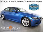 2016 BMW 3 Series 328i Sedan *M SPORT, HEADS-UP DISPLAY, NAVIGATION, REAR/TOP/SIDE CAMERAS, LEATHER, HEATED SEATS, LIGHTING PKG, HARMAN/KARDON, BLUETOOTH
