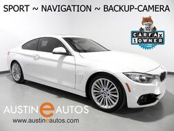 2016_BMW_4 Series 428i Coupe_*SPORT LINE, NAVIGATION, BACKUP-CAMERA, MOONROOF, DAKOTA LEATHER, HEATED SEATS, BLUETOOTH PHONE & AUDIO_ Round Rock TX