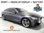 2016 BMW 4 Series 428i Gran Coupe *SPORT LINE, HEADS-UP DISPLAY, NAVIGATION, BACKUP-CAMERA, DAKOTA LEATHER, COMFORT ACCESS, MOONROOF, BLUETOOTH