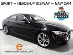 2016 BMW 4 Series 428i Gran Coupe *SPORT LINE, HEADS-UP DISPLAY, NAVIGATION, BACKUP-CAMERA, MOONROOF, HEATED SEATS/STEERING WHEEL, COMFORT ACCESS, LEATHER, BLUETOOTH