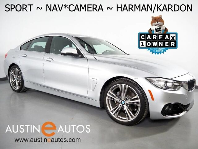 2016 BMW 4 Series 428i Gran Coupe *SPORT LINE, NAVIGATION, BACKUP-CAMERA, MOONROOF, DAKOTA LEATHER, HEATED SEATS, HARMAN/KARDON, COMFORT ACCESS, BLUETOOTH Round Rock TX