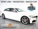2016 BMW 4 Series 428i Gran Coupe *SPORT LINE, NAVIGATION, BACKUP-CAMERA, MOONROOF, POWER TRUNK, 19 INCH WHEELS, BLUETOOTH PHONE & AUDIO