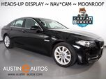 2016 BMW 5 Series 535i *HEADS-UP DISPLAY, NAVIGATION, BACKUP-CAMERA, MOONROOF, DAKOTA LEATHER, HEATED SEATS, COMFORT ACCESS, BLUETOOTH PHONE & AUDIO