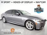 2016 BMW 5 Series 535i *M SPORT, HEADS-UP DISPLAY, NAVIGATION, LUXURY SEATING PKG, BACKUP-CAMERA, NAPPA LEATHER, MOONROOF, POWER TRUNK, BLUETOOTH PHONE & AUDIO