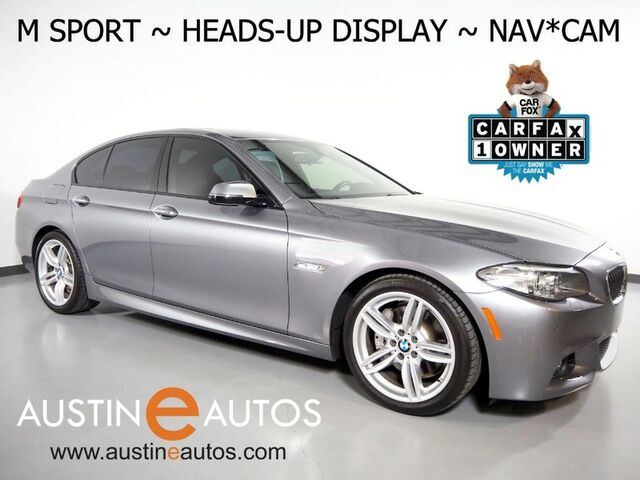 2016 BMW 5 Series 535i *M SPORT, HEADS-UP DISPLAY, NAVIGATION, LUXURY SEATING PKG, BACKUP-CAMERA, NAPPA LEATHER, MOONROOF, POWER TRUNK, BLUETOOTH PHONE & AUDIO Round Rock TX