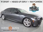 2016 BMW 5 Series 535i *M SPORT PKG, HEADS-UP DISPLAY, NAVIGATION, BACKUP-CAMERA, NAPPA LEATHER, MOONROOF, HEATED SEATS, COMFORT ACCESS, HARMAN/KARDON, LIGHTING PKG, BLUETOOTH