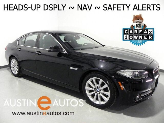 2016 BMW 5 Series 535i xDrive *NAVIGATION, HEADS-UP DISPLAY, BLIND SPOT ALERT, DRIVING ASSISTANT, SIDE/TOP/REAR CAMERAS, MOONROOF, HEATED SEATS/STEERING WHEEL, LEATHER Round Rock TX