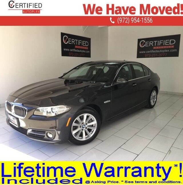 2016 BMW 528i NAVIGATION SUNROOF PARK ASSIST HEATED LEATHER SEATS MEMORY SEAT BLUETOOTH D Dallas TX