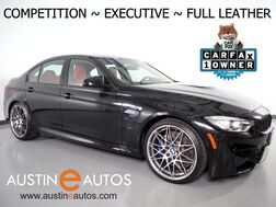2016_BMW_M3_*COMPETITION PKG, EXECUTIVE & DRIVER ASSISTANCE PLUS PKGS, M DOUBLE CLUTCH, FULL MERINO LEATHER, HEADS-UP DISPLAY, BLIND SPOT ALERT, DRIVING ASSISTANT, NAVIGATION, HARMAN/KARDON_ Round Rock TX