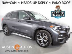 2016_BMW_X1 AWD xDrive28i_*XLINE, HEADS-UP DISPLAY, NAVIGATION, DRIVING ASSISTANT, BACKUP-CAM, PARKING ASSISTANT, PANORAMA MOONROOF, LEATHER, HEATED SEATS/STEERING WHEEL, BLUETOOTH_ Round Rock TX