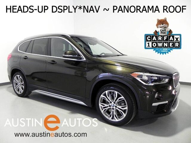2016 BMW X1 xDrive28i *LUXURY LINE, HEADS-UP DISPLAY, DRIVING ASSISTANT, NAVIGATION, BACKUP-CAMERA, PANORAMA MOONROOF, LEATHER, HARMAN/KARDON, BLUETOOTH Round Rock TX