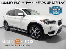 2016_BMW_X1 xDrive28i_*LUXURY PKG, NAVIGATION, HEADS-UP DISPLAY, PANORAMA MOONROOF, LEATHER, HEATED SEATS/STEERING WHEEL, COMFORT ACCESS, BLUETOOTH_ Round Rock TX