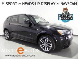 2016_BMW_X3 AWD xDrive28i_*M SPORT, HEADS-UP DISPLAY, DRIVING ASSISTANT, BLIND SPOT ALERT, TOP/SIDE/REAR CAMERAS, HARMAN/KARDON, PANORAMA MOONROOF, BLUETOOTH_ Round Rock TX