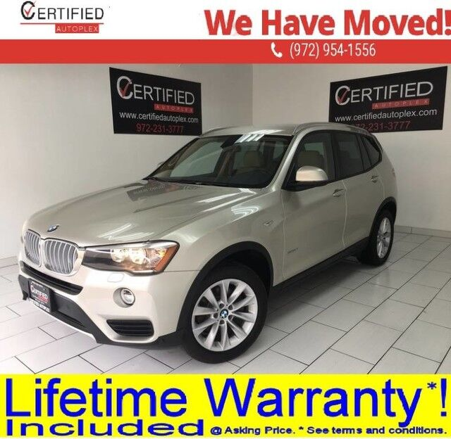 2016 BMW X3 sDRIVE28i NAVIGATION SYSTEM DRIVING ASSIST PKG REAR CAMERA MEMORY SEAT Dallas TX
