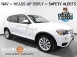 2016 BMW X3 sDrive28i *NAVIGATION, HEADS-UP DISPLAY, BLIND SPOT ALERT, DRIVING ASSISTANT, SIDE/TOP/REAR CAMERAS, PANORAMA MOONROOF, COMFORT ACCESS, LEATHER, HEATED SEATS