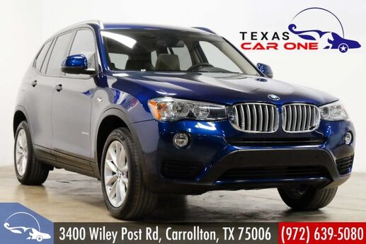 2016 BMW X3 xDrive28i AWD DRIVER ASSIST PKG PREMIUM PKG TECHNOLOGY PKG NAVIGATION HEADUP DISPLAY Carrollton TX
