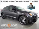 2016 BMW X4 xDrive28i AWD *M SPORT PKG, HEADS-UP DISPLAY, NAVIGATION, BLIND SPOT ALERT, DRIVING ASSISTANT, TOP/SIDE/REAR CAMERAS, LEATHER, HEATED SEATS, MOONROOF, BLUETOOTH