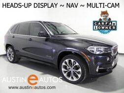 2016_BMW_X5 sDrive35i_*LUXURY LINE, IVORY WHITE DESIGN PKG, HEADS-UP DISPLAY, NAVIGATION, REAR/TOP/SIDE CAMERAS, HARMAN/KARDON, PANORAMA MOONROOF, BLUETOOTH_ Round Rock TX